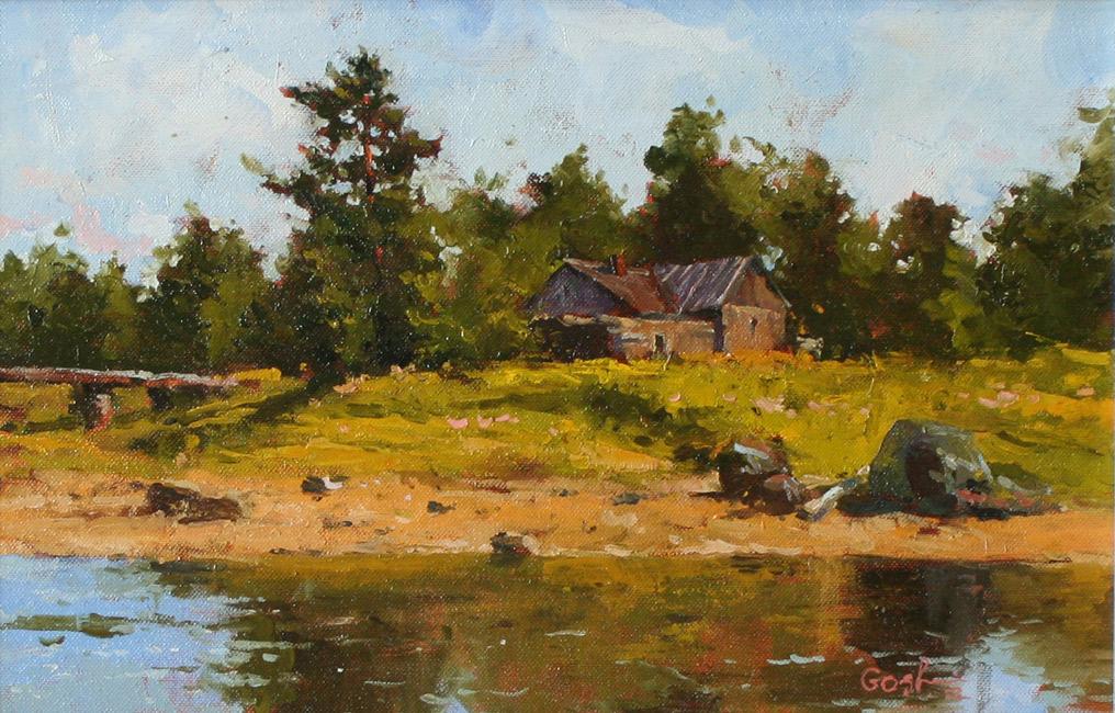 Игорь Володькин, «Летняя прохлада», холст, масло, 26х34см, 2012