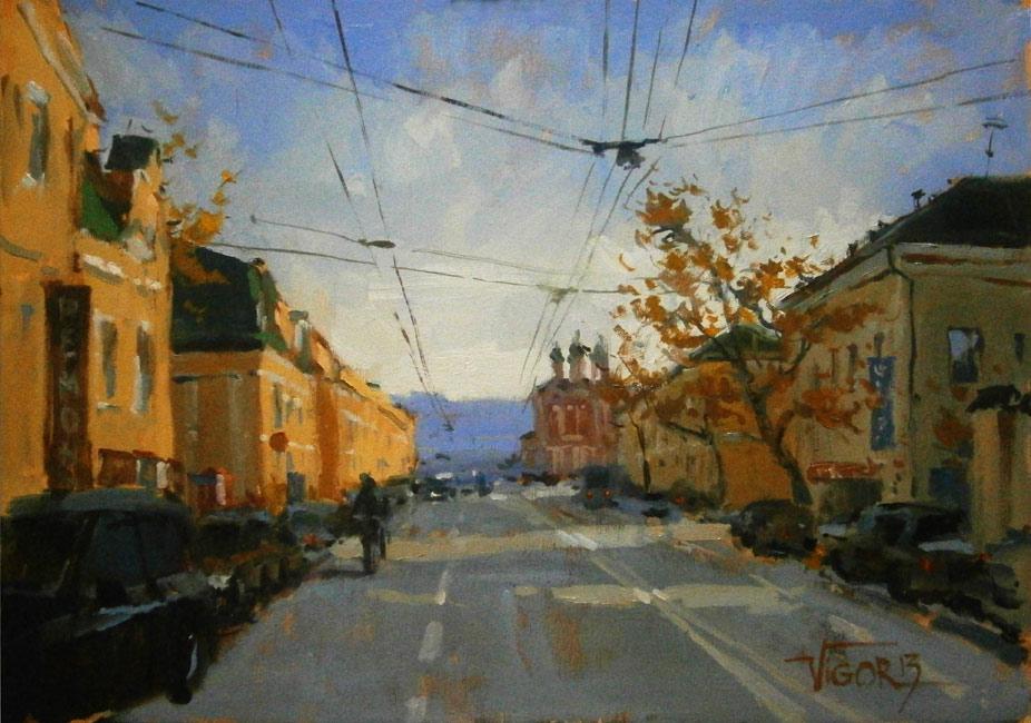 Игорь Волдькин, «Таганка», холст, масло, 35х50см, 2013